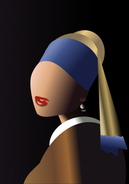 pptfy: Girl with a Pearl Earring, by Ziv Mizrahi