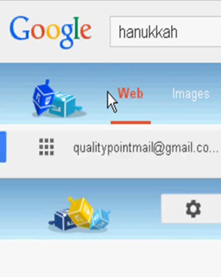 Google Hanukkah Easter-egg 2013. Screenshot: Rajamanickam Antonimuthu