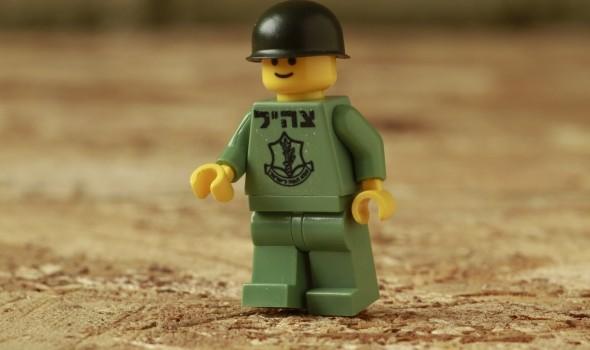 IDF soldier Lego minifig by JBrick. Photo: JBrick