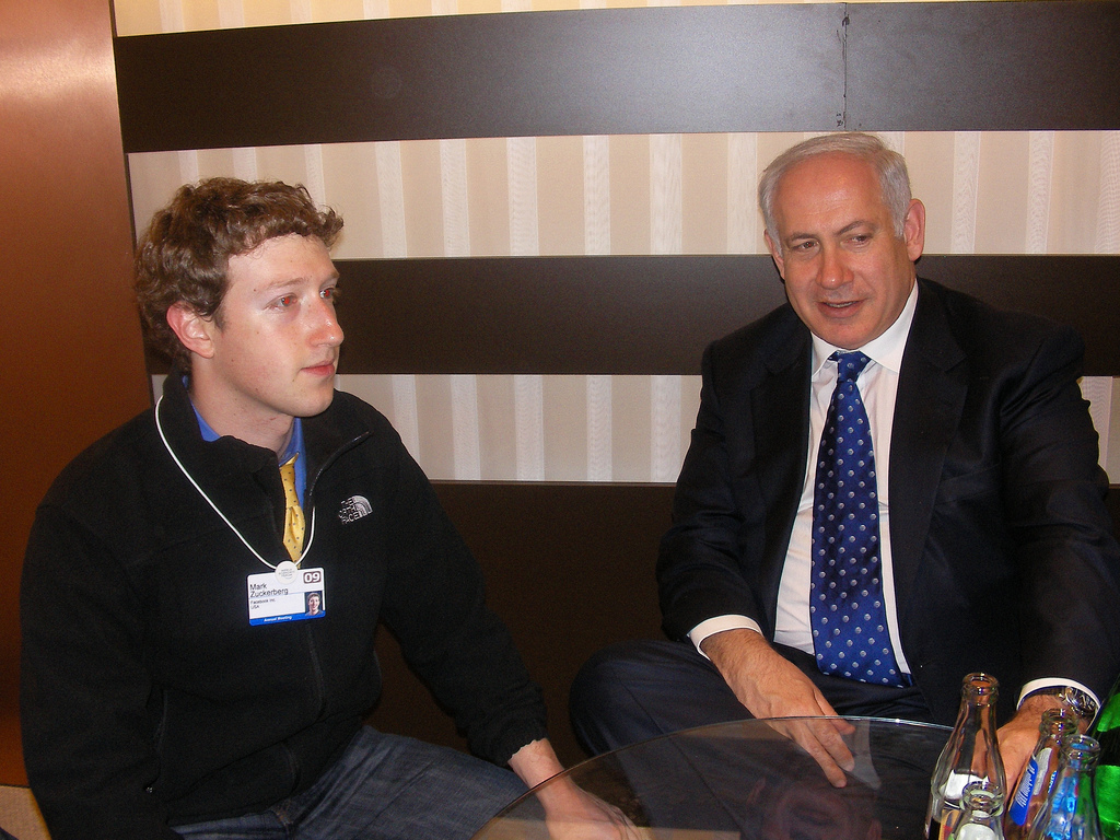 Facebook founder Mark Zuckerberg and Israeli PM Benjamin Netanyahu 📸 Sagi Chemetz (cc-by-nc-nd)