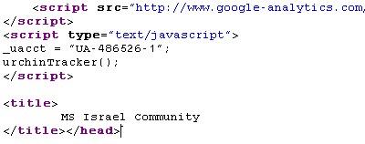 גוגל אנליטיקס בבלוגים של מיקרוסופט ישראל