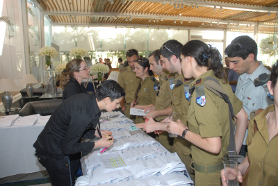 חיילים בכנס טק-אד 2008. צילום: יחצנות מיקרוסופט ישראל