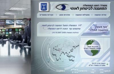 שער אתר המועצה לבטחון לאומי בעברית