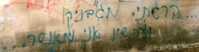 """גרפיטי """"הרגתי מג""""בניק ועכשיו אני מאושר"""". צילום: מיכאל זילברמן, cc-by-nc-nd"""