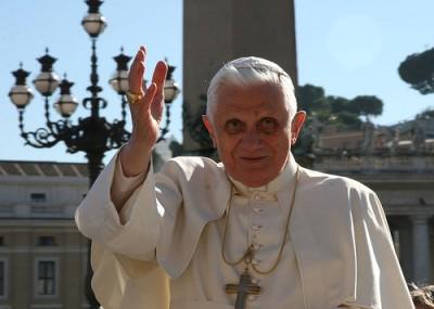 """האפיפיור בנדיקטוס הי""""ו. צילום: roblisameehan-cc-by"""