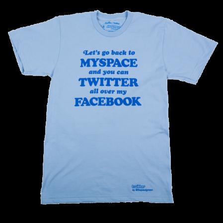 חולצה מסדרת טוויטר של ת'רדלס. קליק מוביל לעמוד הרכישה