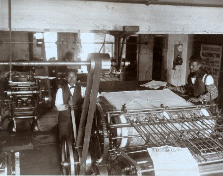 Press room of the Planet newspaper, Richmond, Virginia, 1899, public domain