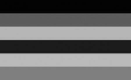 דגל הגאווה בגווני אפור. איור: אטימולוגיה עממית