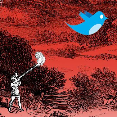 טוויטר. איור: יעל בוגן, העין השביעית the7eye.org.il, cc-by-nc-sa