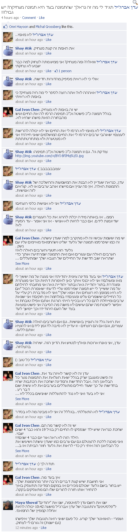 eden abergil on omri hayoons facebook 450 eden abergil gets meme treatment; says would be glad to massacre