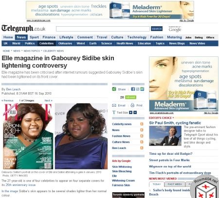 Gabby Sidibe Skin Lightening Controversy Brought to You by Skin Whitening Cream