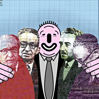 כסף קונה חברים? איור: יעל בוגן, העין השביעית, the7eye.org.il, cc-by-nc-sa
