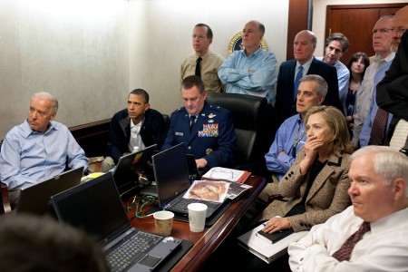 Obama admin at the situation room, photo by Pete Souza, The White House