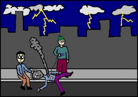 בעודם מחכים לאמבולנס שיגיע לפנות את נפגע מכת הברק, הספיקו יניב וגדעון להטעין את הניידים שלהם לשלושה קווים מלאים. הם לא התגאו בזה, אבל כמו רבים אחרים מאז עליית המחירים, הפכו גם הם לערפדים של חשמל.