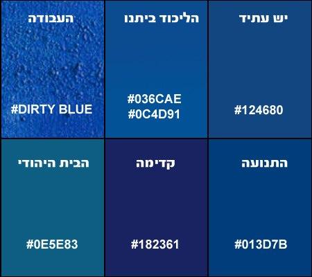 מדריך גווני כחול של המפלגות