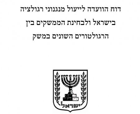 שער דוח הוועדה לייעול מנגנוני רגולציה בישראל