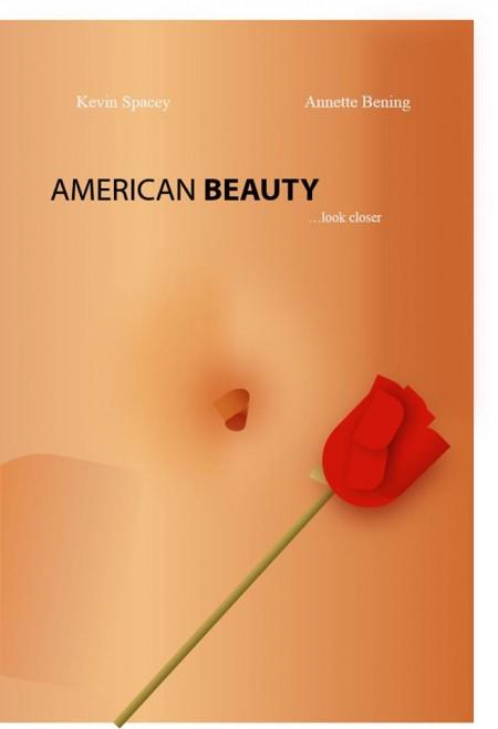 """כרזת הסרט """"אמריקן ביוטי"""", עשויה בפאוורפוינט. יוצר: זיו מזרחי"""