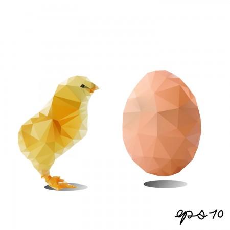 ביצה ואפרוח. אפרוח וביצה. איור: RomanYa / Shutterstock