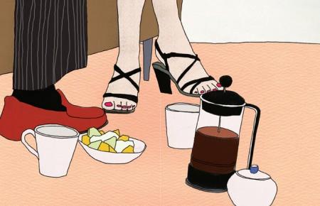 בית קפה. איור: hyoin min (רשיון cc-by-nc-nd)