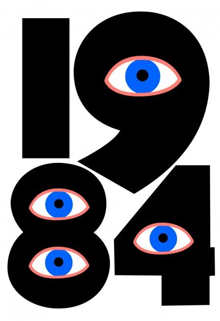 """""""1984"""". איור:  Gwendal Uguen (רשיון cc-by-nc-sa)"""