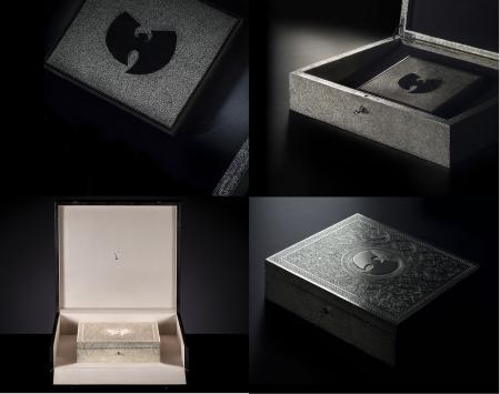 """מארז האלבום """"ה-ווּ – היׂה היה בשאולין"""" של וו טאנג קלאן בעיצוב Yahya. צילומים מהאתר הרשמי scluzay.com"""