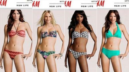 דוגמניות H&M עם גוף זהה שצויר במחשב