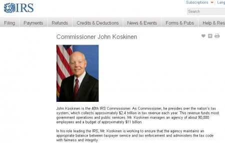 ג'ון קוסקינן באתר ה-IRS