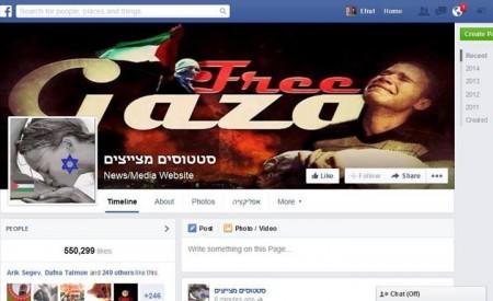 """פריצה והשחתה של דף הפייסבוק """"סטטוסים מצייצים"""", יולי 2014"""