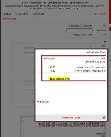 שליחת מברק באתר דואר ישראל