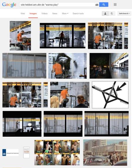 חיפוש גוגל של תמונות מיצג Wanna Play של דריס ורהובן באתר HAU