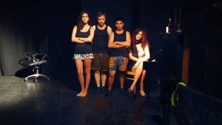"""צוות המופע """"לא אומרים איכס על אוכל"""". צילום באדיבות גיא (בוב) זאבי ושמעון ראיצ'יק"""