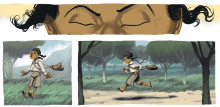 """פריים מהקומיקס """"נשאר מאחור"""" של ארז צדוק. קליק לכתבה"""