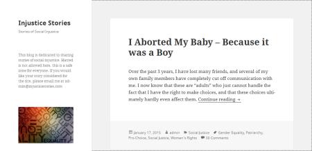 הבלוג Injustice Stories