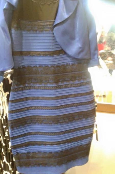 השמלה הכחולה-שחורה שנראית גם לבנה-זהובה, שפורסמה בבאזפיד