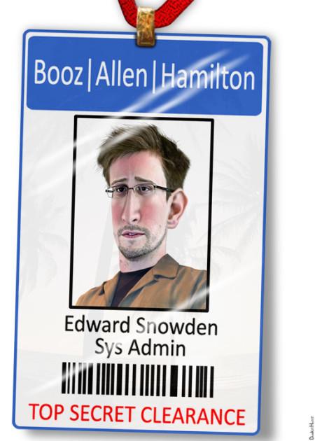אדוארד סנואודן, מדליף מסמכי ה-NSA. איור: DonkeyHotkey