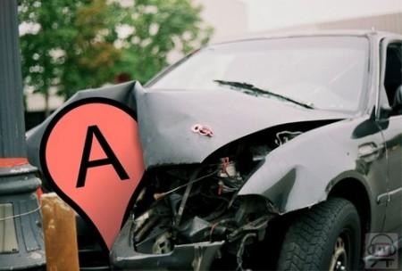 תאונת דרכים בגוגל מפות. אמילי אואוג (cc-by-nc-sa)