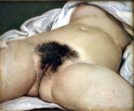 """""""מקורו של העולם"""". ציור: גוסטב קורבה (נחלת הכלל)"""