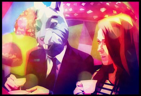 אליס בארץ הפלאות עם הארנב. איור: Surian Soosay (cc-by)
