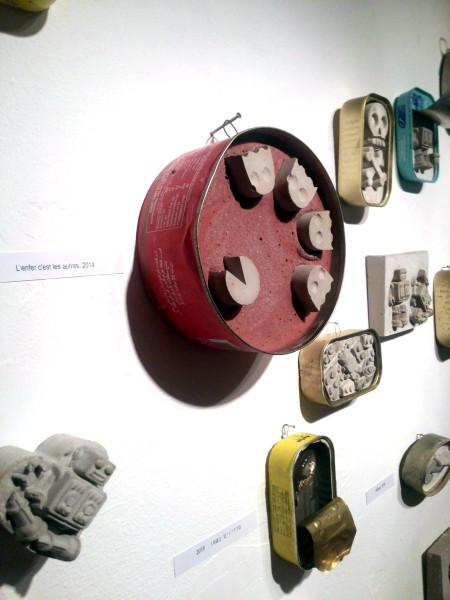 """פקמן מבטון, יצירה של שרון פזנר מתערוכתה """"משחקים קונקרטיים"""""""