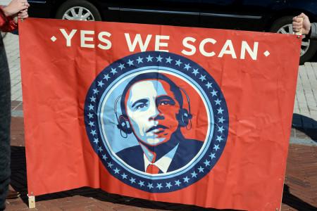 עצרת בוושינגטון הבירה נגד מעקב המוני, 26.10.2013. צילום: Stephen Melkisethian (cc-by-nc-nd)