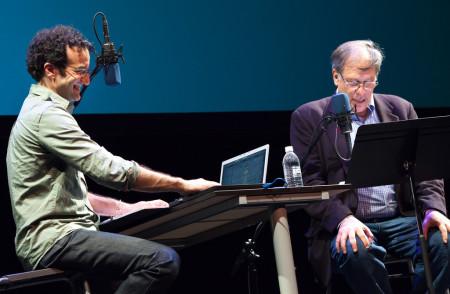 רוברט קרולוויץ' וג'ד אבומראד בהופעה חיה של רדיולאב. צילום: Jared Kelly (cc-by-nc-nd)
