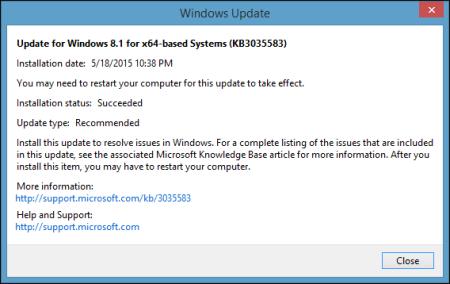 הודעה מטעה של מיקרוסופט על עדכון KB3035583 שמחדיר למחשב את וירוס GWX.exe