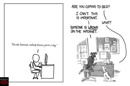 Someone is DOG on the internet., יוצר: עידו קינן, עיבוד לקריקטורות של רנדל מונרו ופיטר סטיינר