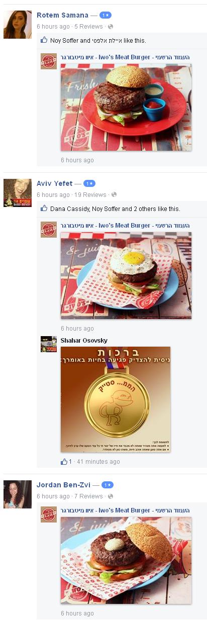 איוו מגיבים בתמונות בשר למדרגי כוכב אחד בפייסבוק