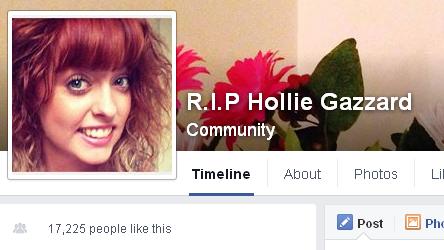 דף פייסבוק לזכר הולי גזרד