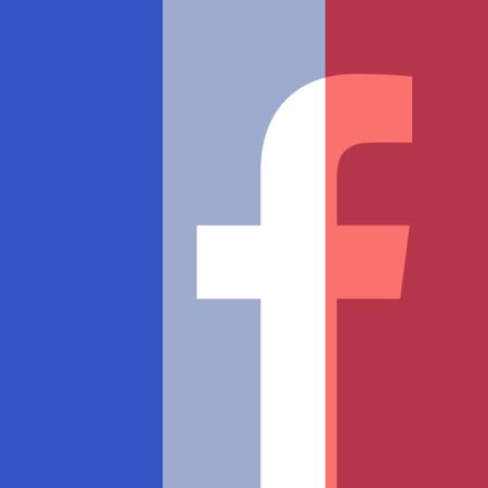 לוגו פייסבוק עם דגל צרפת עליו, שפורסם בפרופיל הפייסבוק הרשמי של חברת פייסבוק אחרי פיגוע הטרור בפריז, 14.11.2015