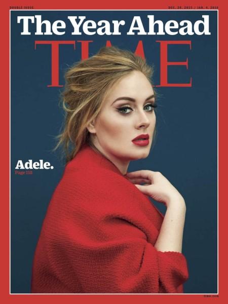 אדל על שער טיים מגזין בצילום של אריק מדיגן הק