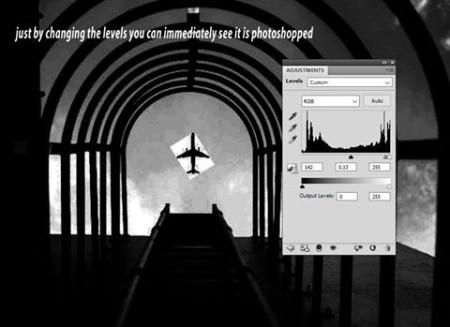 תצלום המטוס המפוברק של יו וויי שיה אחרי שינוי הלבלים. עיבוד: שון הו