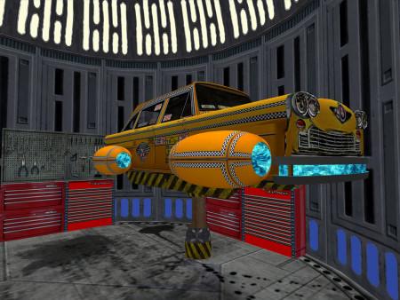מונית חלל. איור: Andromega Volare (cc-by-nc-sa)