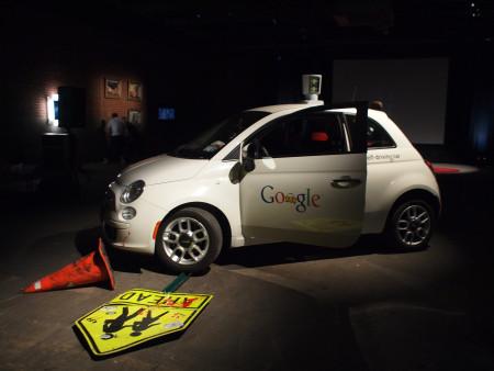 עצמכונית של גוגל. צילום: בקי סטרן (cc-by-sa)
